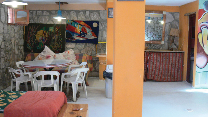Common Area of the Hostel Antigua Tilcara, in Jujuy, Argentina