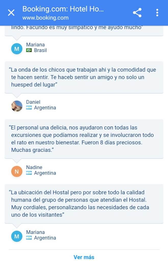 Comentarios del Hotel Antigua Tilcara en Booking.com