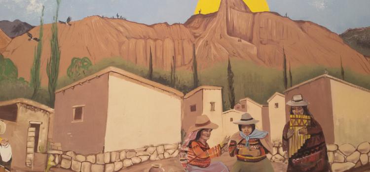 Mural en las calles de Tilcara, en la Quebrada de Humahuaca