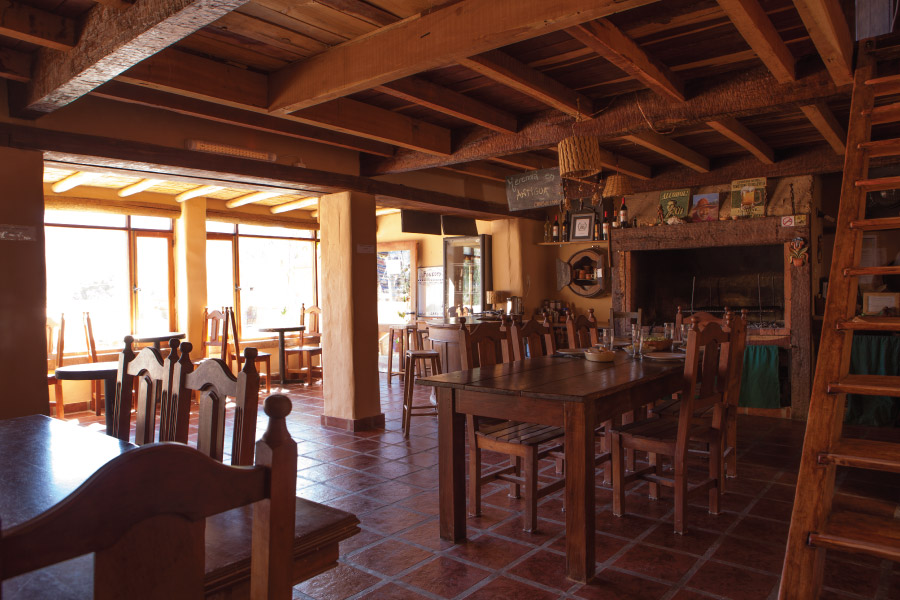 Breakfast area of the  Hotel Antigua Tilcara