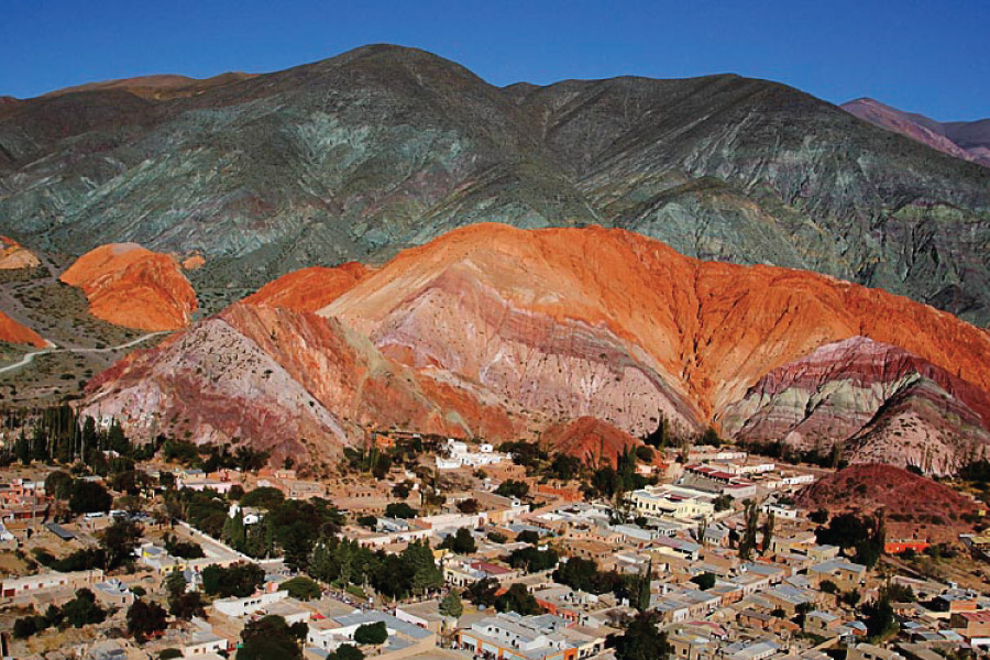 Seven Colors Valley in Purmamarca - Quebrada de Humahuaca, Jujuy, Argentina