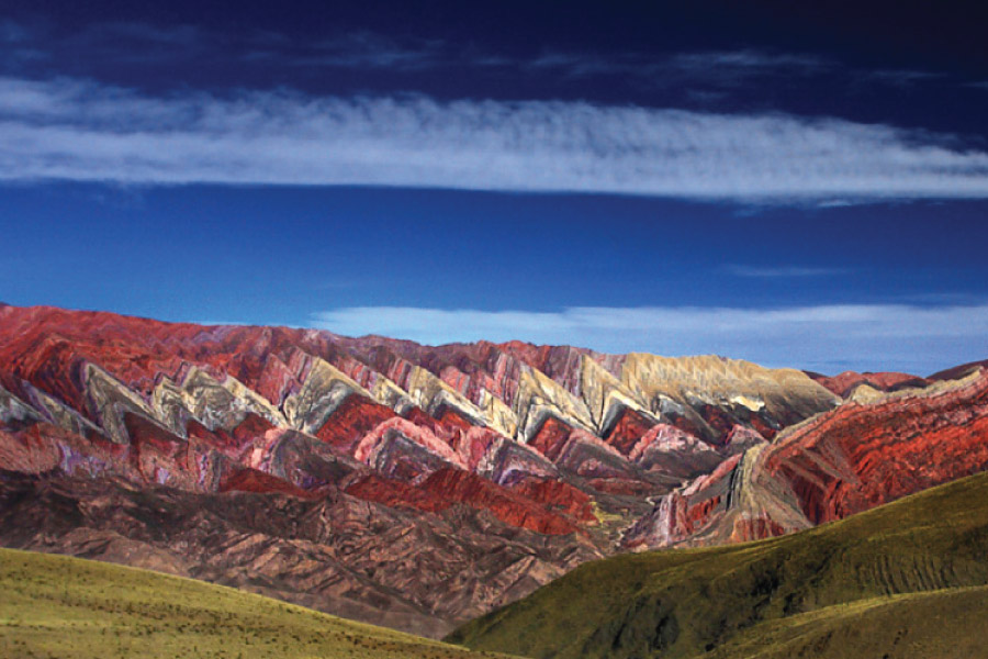 Fouteen Colors Valley (Hornocal) in the Quebrada de Humahuaca, Jujuy, Argentina