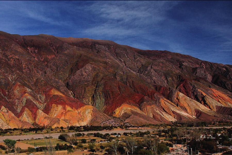 Paleta del Pintor en Maimará en la Quebrada de Humahuaca, provincia de Jujuy, Argentina