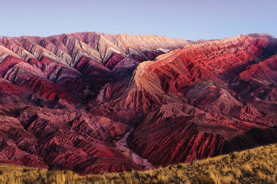 Hornocal Range of Mountains (near Humahuaca) in theQuebrada de Humahuaca, Jujuy, Argentina