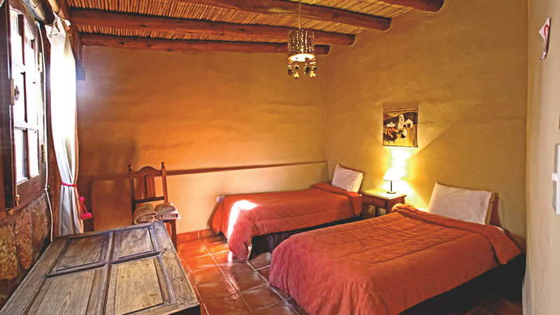 Habitación doble twin Estándar del Hotel Antigua Tilcara, en Jujuy, Argentina