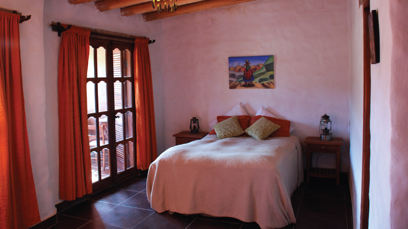 Superior double bed Room from the Hotel Antigua Tilcara, in Jujuy, Argentina