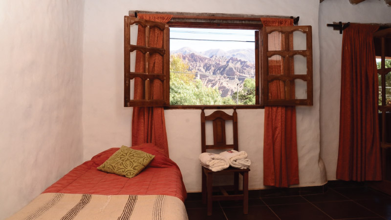 Superior double Room of the Hotel Antigua Tilcara, in Jujuy, Argentina