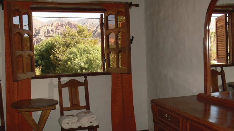 Nice Hill View from the Superior double bed Room - Hotel Antigua Tilcara, in Jujuy, Argentina