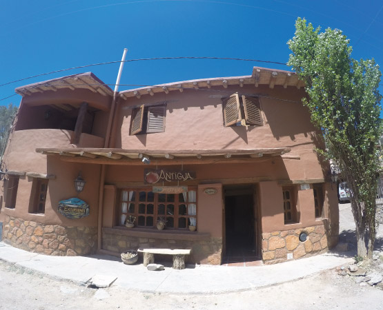 Front of the Hostal Tilcara in Tilcara, Jujuy
