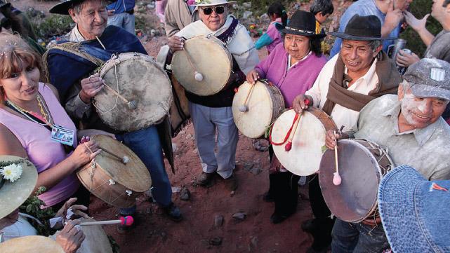 Comparsa in Tilcara - Quebrada de Humahuaca, Jujuy, Argintina