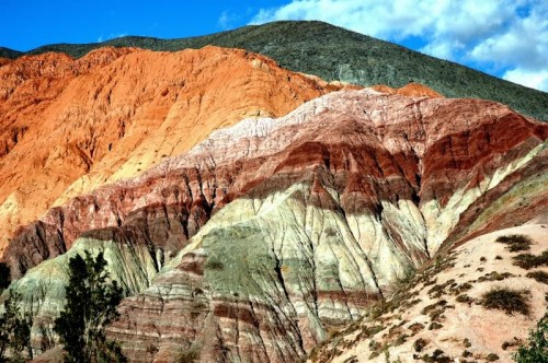 Cerro de los siete colores en Purmamarca - Quebrada de Humahuaca, provincia de Jujuy, Argentina