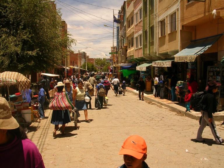 Ciudad de Villazón en el sur de Bolivia