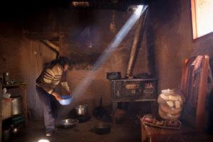 Cocina de la casa de la familia Lamas en Hornaditas - Quebrada de Humahuaca, provincia de Jujuy, Argentina