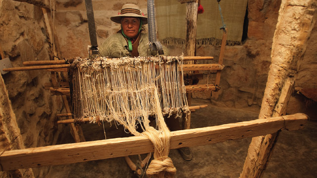 Loom in the Quebrada de Humahuaca, Jujuy, Argintina